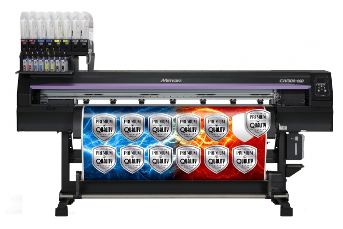 Mimaki СJV300-160 - широкоформатный сольвентный принтер-каттер